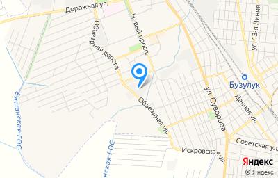 Местоположение на карте пункта техосмотра по адресу Оренбургская обл, г Бузулук, тер. ГСК 3А, д 52