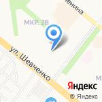 Якташ на карте Альметьевска