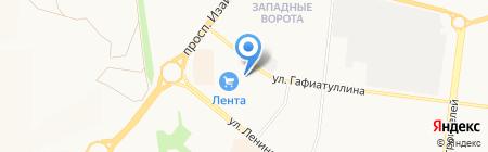 Лента на карте Альметьевска