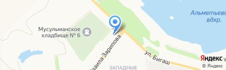 АЗС на карте Альметьевска