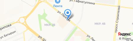 Ампир на карте Альметьевска
