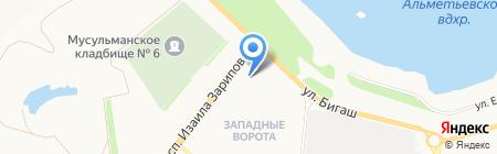 Автостоянка на проспекте Изаила Зарипова на карте Альметьевска