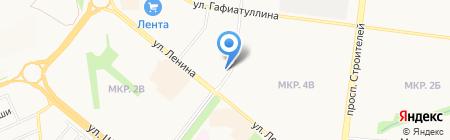 Люстроград на карте Альметьевска