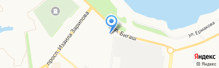 Западные ворота на карте Альметьевска