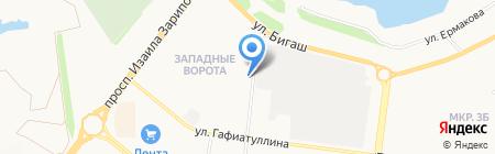 Магазин на ул. Аминова на карте Альметьевска
