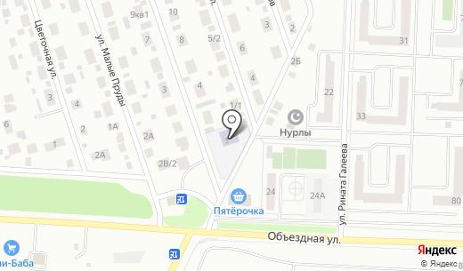 Детский сад №59 Солнечная страна. Схема проезда в Альметьевске