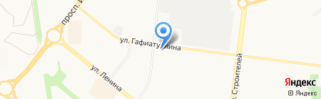 Магазин DVD дисков на ул. Гафиатуллина на карте Альметьевска