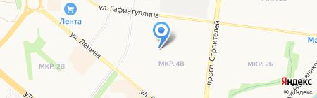 Гимназия №1 им. Ризы Фахретдина на карте Альметьевска