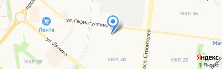 Заря на карте Альметьевска