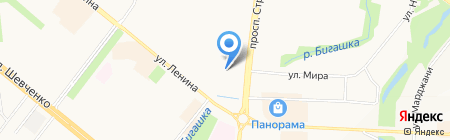 Тимрус на карте Альметьевска