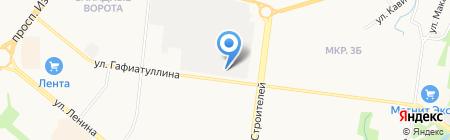 Автостоянка на ул. Гафиатуллина на карте Альметьевска