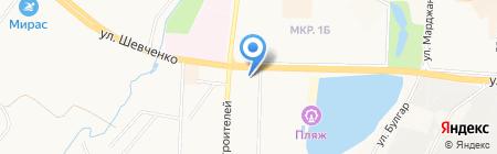 Сауна на ул. Шевченко на карте Альметьевска