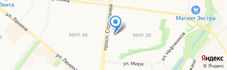 Магазин пряжи на проспекте Строителей на карте Альметьевска