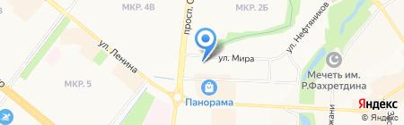 Мастерская по ремонту обуви на ул. Мира на карте Альметьевска