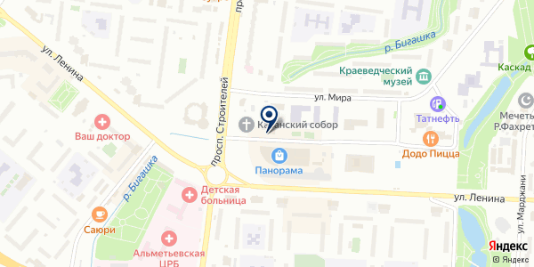Общежитие на карте Альметьевске
