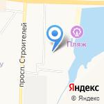 Голубое озеро на карте Альметьевска