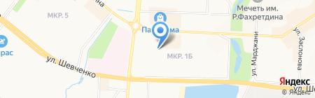 Юнга на карте Альметьевска