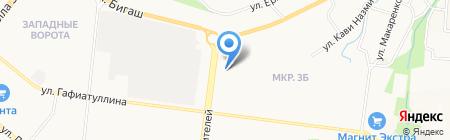 Магазин текстиля на проспекте Строителей на карте Альметьевска