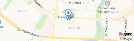 Эва на карте Альметьевска