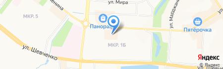 Машинная вышивка №1 на карте Альметьевска