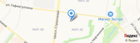 Детский сад №41 Дружные ребята на карте Альметьевска