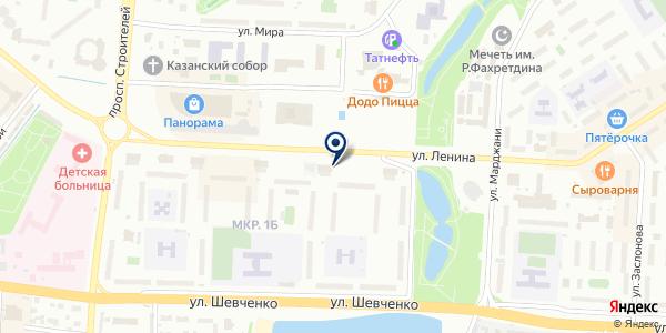 Сеть платежных терминалов на карте Альметьевске