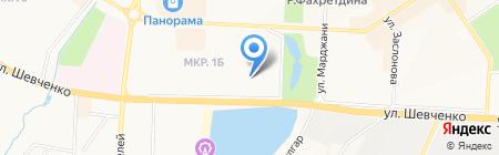 Детский сад №23 Малыш на карте Альметьевска