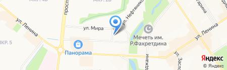 Автостоянка на ул. Мира на карте Альметьевска