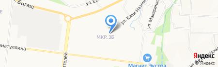 Средняя общеобразовательная школа №18 на карте Альметьевска
