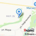 Средняя общеобразовательная школа №11 на карте Альметьевска