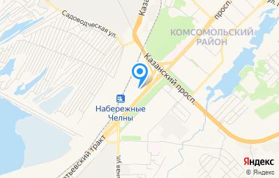 Местоположение на карте пункта техосмотра по адресу Респ Татарстан, г Набережные Челны, пр-кт им Мусы Джалиля, д 13