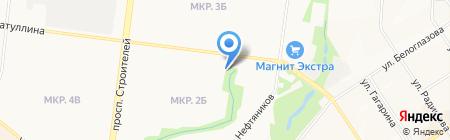 Магазин канцтоваров на карте Альметьевска