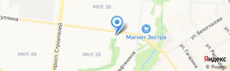 Магазин бытовой химии на ул. Гафиатуллина на карте Альметьевска