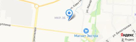 Магазин овощей и фруктов на ул. Гафиатуллина на карте Альметьевска