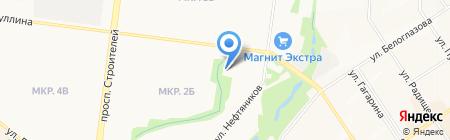 Милэш на карте Альметьевска