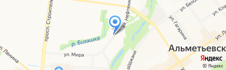 Сантехкомплект на карте Альметьевска