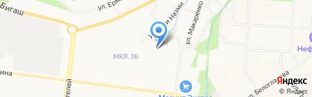 Средняя общеобразовательная школа №21 на карте Альметьевска