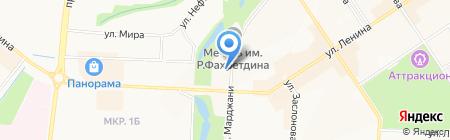 Отдел МВД России по Альметьевскому району на карте Альметьевска