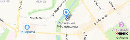 Магазин ритуальных услуг на ул. Марджани на карте Альметьевска
