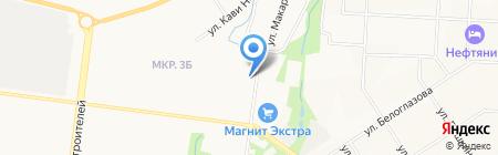 Черновъ на карте Альметьевска