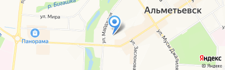 Детский сад №21 Гвоздика на карте Альметьевска