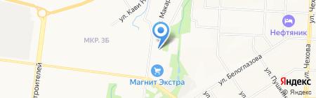 Автостоянка на ул. Нефтяников на карте Альметьевска