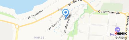 Мечеть на ул. Макаренко на карте Альметьевска