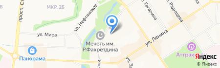 УАЗ-Альметьевск на карте Альметьевска