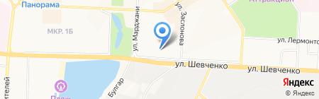 Отдел Управления Федеральной службы безопасности РФ по Республике Татарстан в г. Альметьевске на карте Альметьевска