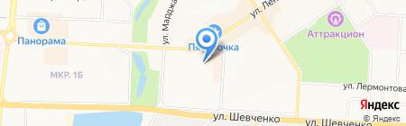Юничел на карте Альметьевска