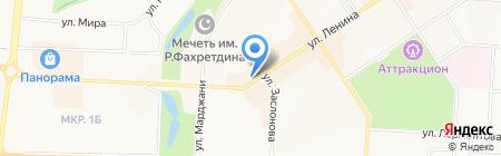 Продуктовый магазин на ул. Ленина на карте Альметьевска