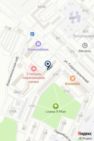 ГСК НИКА-АМ на карте Набережных Челнов
