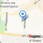 Сеть магазинов хозяйственных товаров на карте Альметьевска