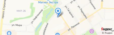 Продуктовый магазин на ул. Белоглазова на карте Альметьевска